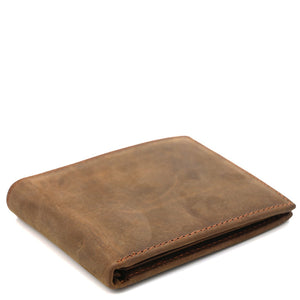 Minimal Buckskin Leather Short Wallet - Gritty Rustic Leather Co.