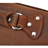 Rugged Russet Leather Exploration Briefcase - Gritty Rustic Leather Co.