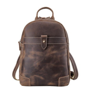 Minimal Chocolate Leather Backpack - Gritty Rustic Leather Co.