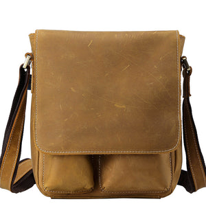 Classic Tobacco Leather Messenger Bag - Gritty Rustic Leather Co.