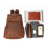 Rugged Russet Leather Rucksack - Gritty Rustic Leather Co.