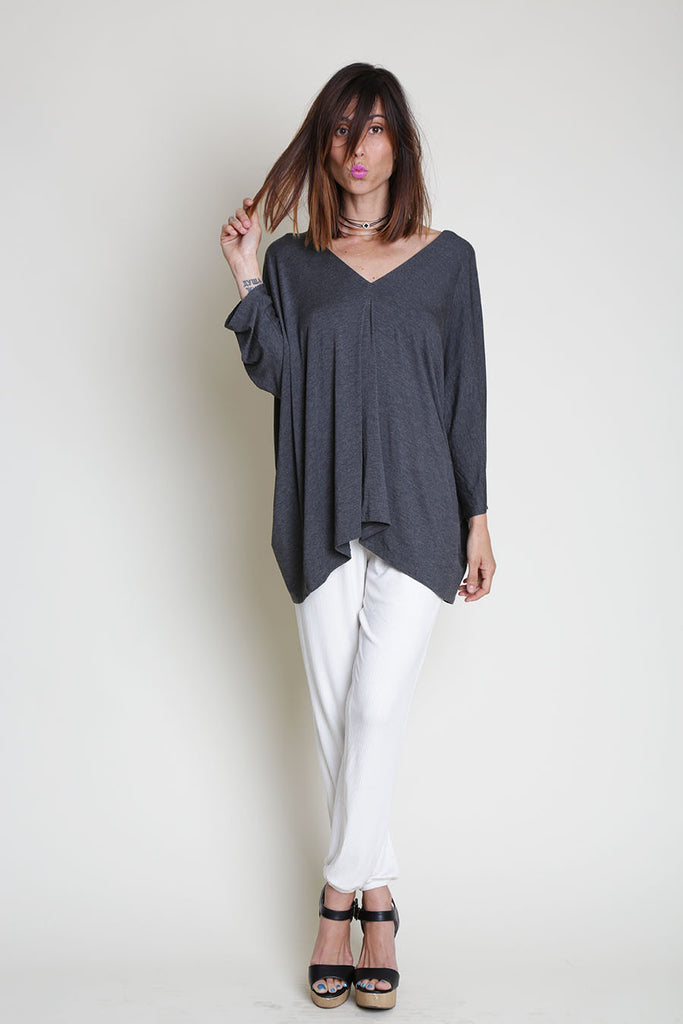 TARA LONG SLEEVE RIBBED TOP