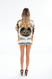 CRYSTAL TOP tiger print