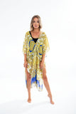 YK BEACH COVERUP tiger print