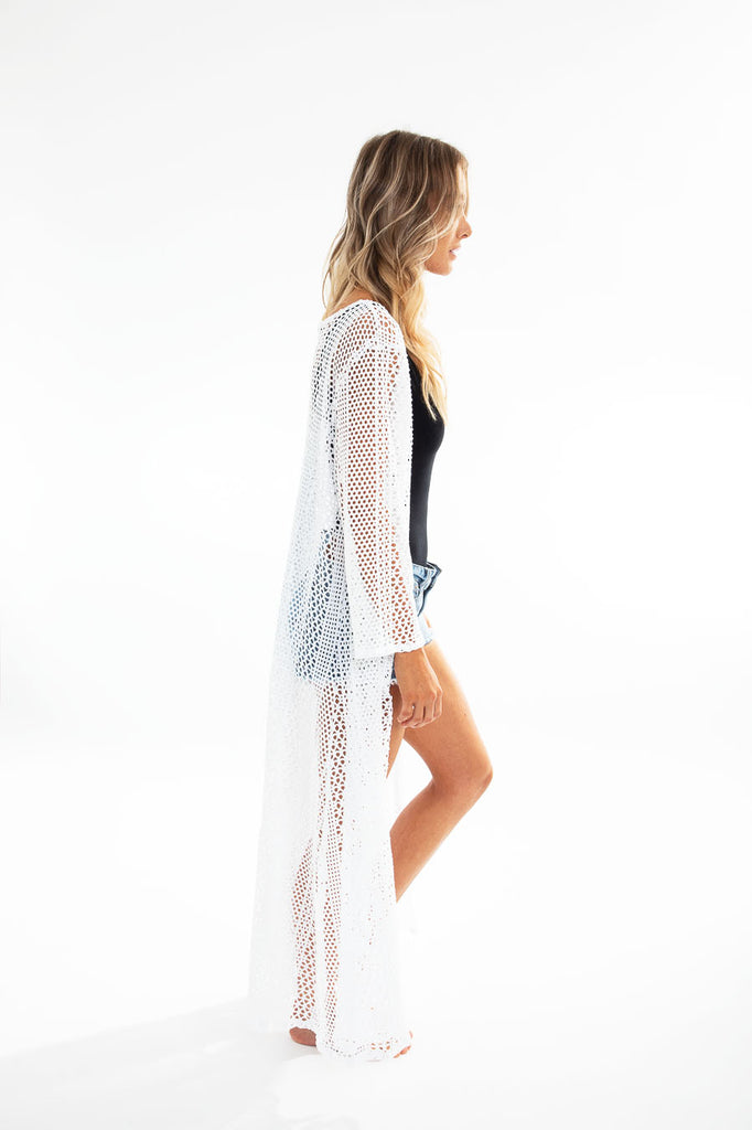 LENNY BEACH CARDIGAN fishnet