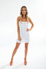 YK SLIP MINI DRESS cotton thin checkered