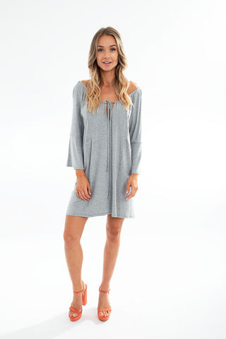 PONCHO DOUBLE EDGE VNECK TOP