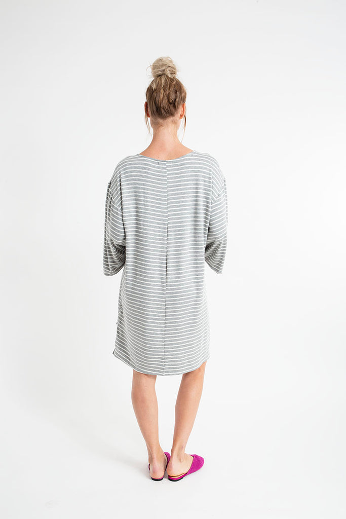 MONTECITO MINI DRESS fleece stripes