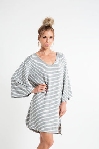 PONCHO MINI DRESS Baby French Terry