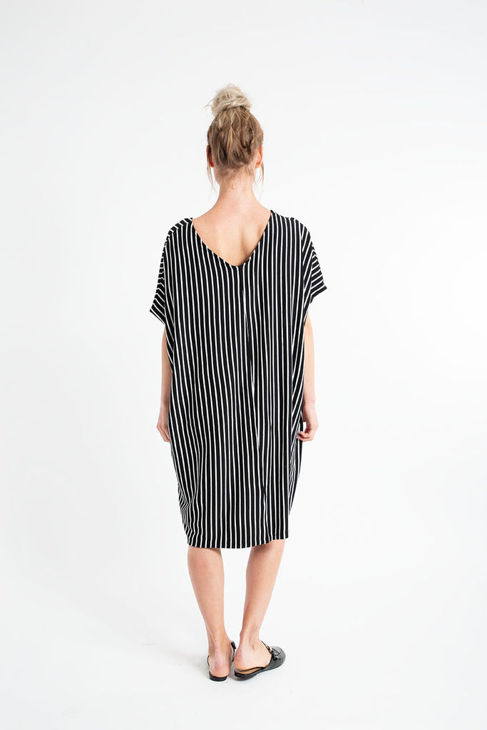 LISA MINI DRESS fleece stripes