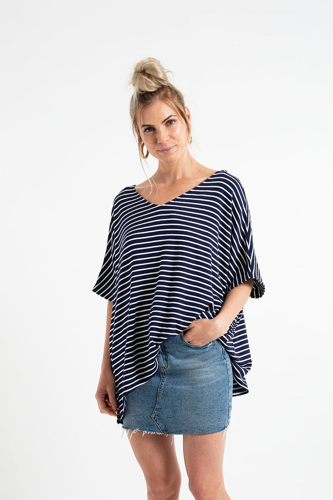 APPLE TOP SLEEVELESS fleece stripes
