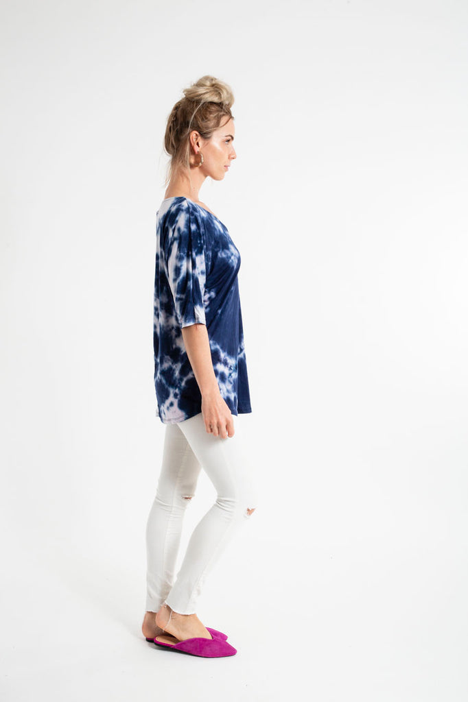 LOUIS TOP - S/S tiedye