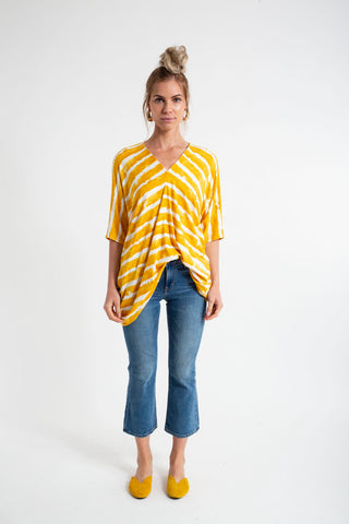 TANIA TOP - BRUSH STRIPES