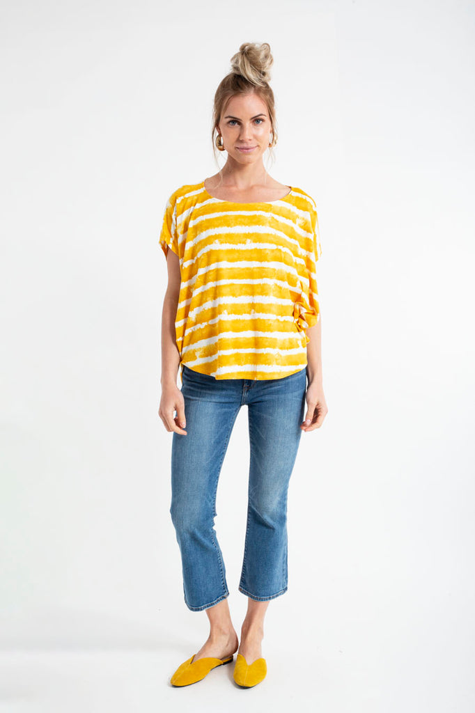 SONJA TOP tiedye stripes