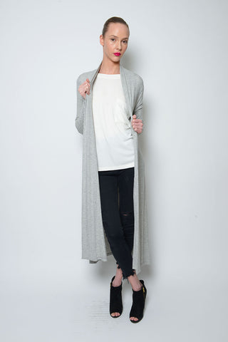PONCHO DOUBLE EDGE VNECK RIB TOP