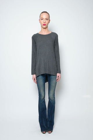 Poncho Top V-Neck Dbl Ribbed