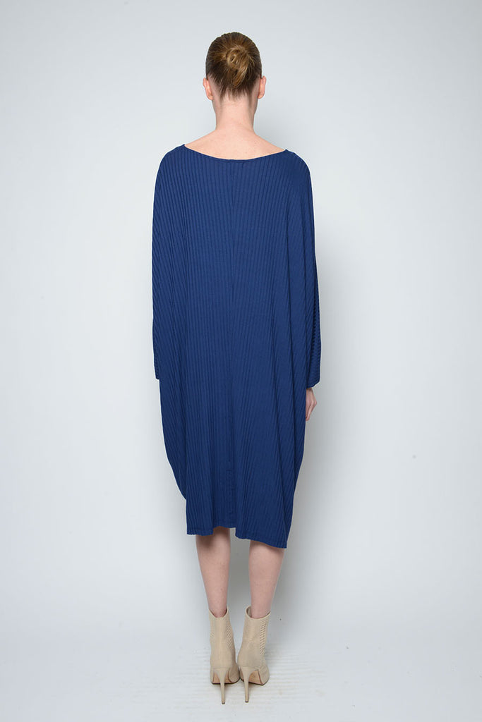 TARA LONG SLEEVE RIBBED DRESS