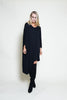 PONCHO VNECK ASYMMETRICAL DRESS