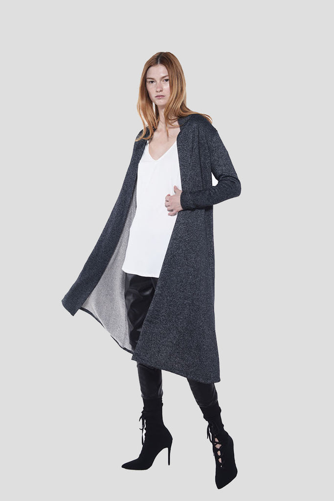 CRANE CARDIGAN LONG - LOOP TERRY