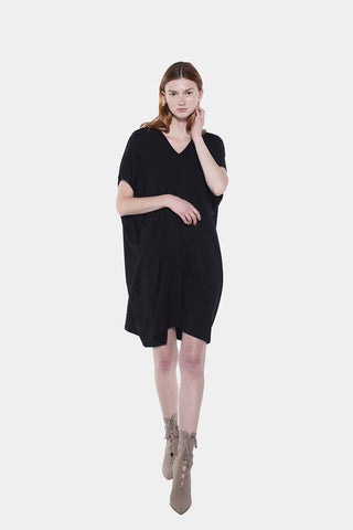TARA HIGH VNECK 3/4 DRESS