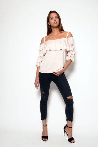 CINDY TOP - L/S stripes