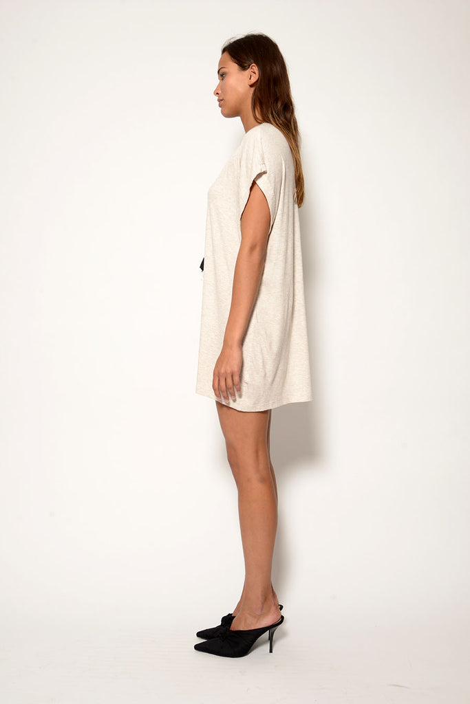 BOY RIB MINI DRESS W/ TASSEL