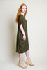 TARA 3/4 SLEEVE VNECK DRESS