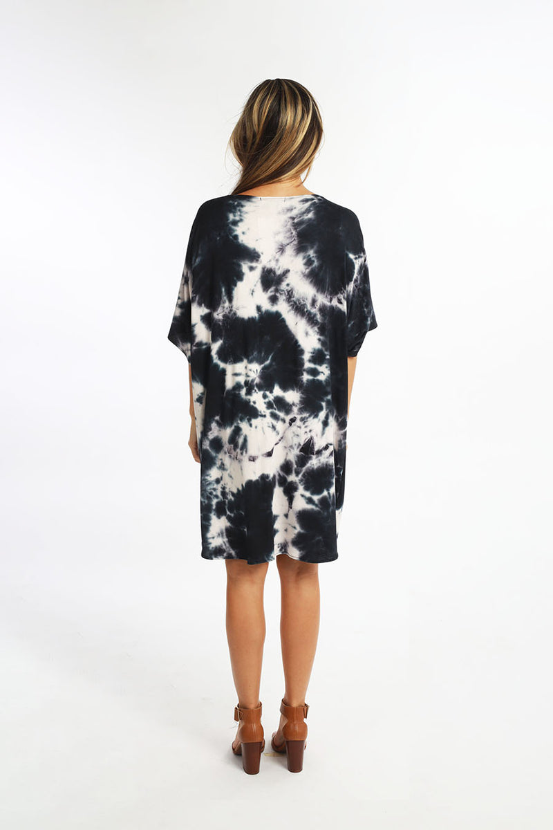 CRYSTAL MINI DRESS tiedye