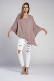 PONCHO DOUBLE EDGE SCOOP NECK TOP