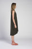 TARA HIGH VNECK 3/4 DRESS W/ KNOT
