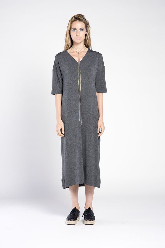 TURTLE 3/4 DRESS - PLAIN