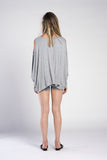 PONCHO OPEN SHOULDER TOP