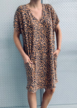 HOUSTON mini dress cheetah