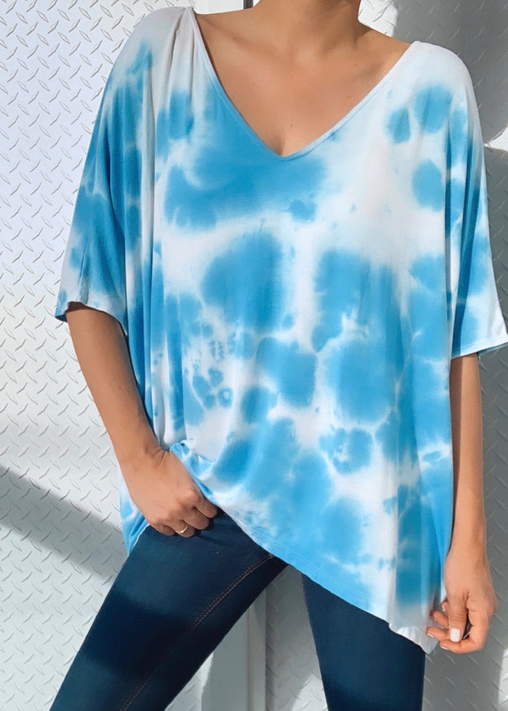 APPLE TOP SLEEVELESS tiedye