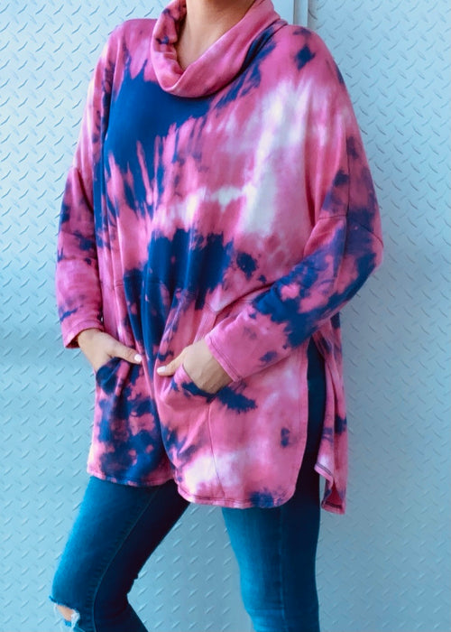 SHELLY SWEATER fleece tiedye
