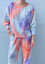 ACE SWEATER brushed hatchi tiedye
