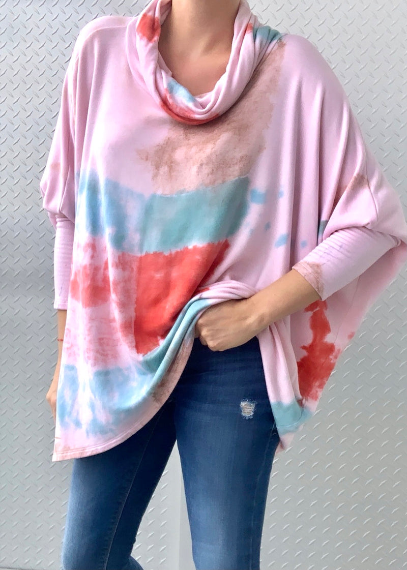 PORTLAND FLEECE SWEATER shibori tiedye