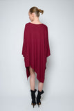 PONCHO DRESS DOUBLE EDGE