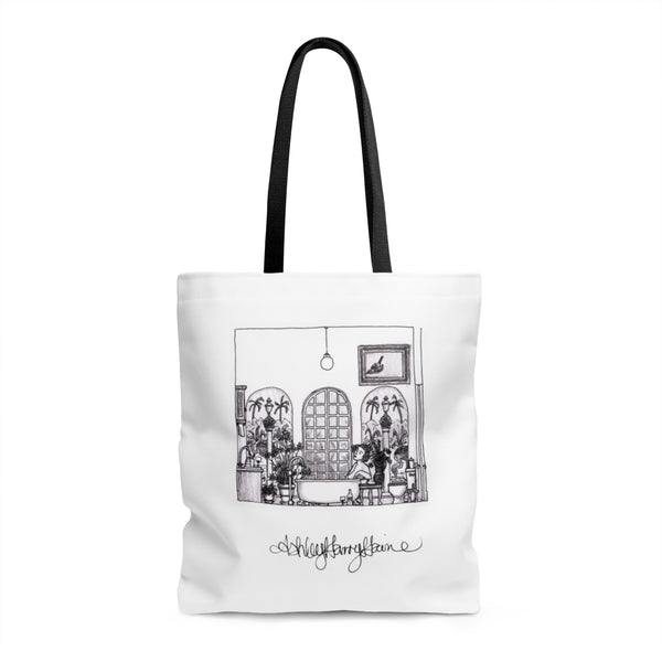 "Ashley Harry Haine's ""Sabato Sera"" Tote Bag"