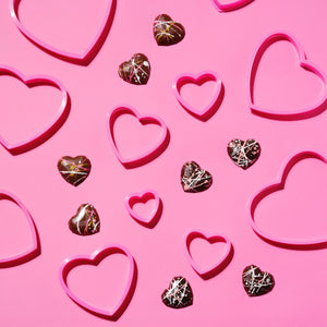 Disco Hearts ~ Solid Milk Chocolate