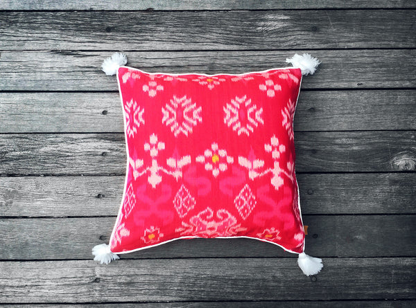 Endek Cushion in Pink