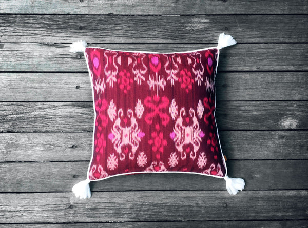 Endek Cushion in Purple