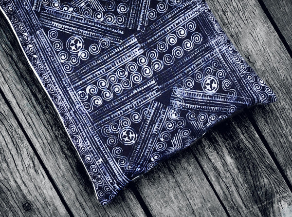 H'mong Batik Cushion in Indigo Blue