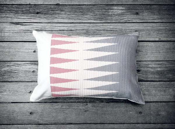 Rangrang Cushion in Pale Pink & Grey