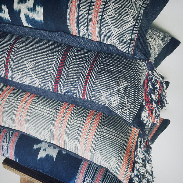 Sumba Ikat Cushion with Star Motif