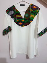 Kente men's shirt