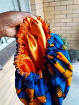 Satin lined Africanprint Bonnet (Different prints available)