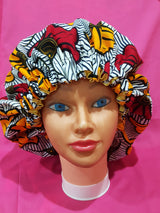 Satin lined Africanprint bonnets (Please choose your print. Available according to season)