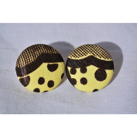 Polkadot Afroprint Earrings