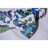 Blue floral African print headband